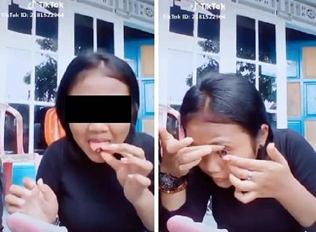 Viral video cewek bersihkan lensa kontak menggunakan air ludah