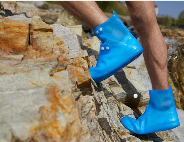 防水鞋套-雨鞋套男女鞋套防水雨天防滑加厚耐磨成人下雨天騎行防水防雨鞋套 提拉米蘇