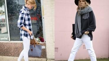 秋冬怎麼搭配白色長褲?其實女孩這樣穿時尚又好看!
