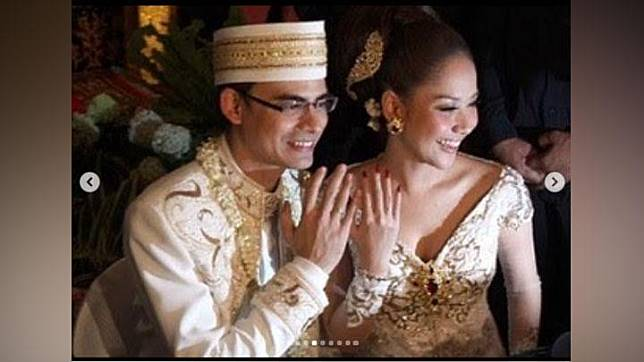 Momen pernikahan Bunga Citra Lestari dan Ashraf Sinclair. Instagram/@anneavantieheart
