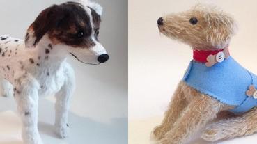 超精緻狗娃娃!乍看之下還以為是真的,跟我家的狗狗一模一樣耶~