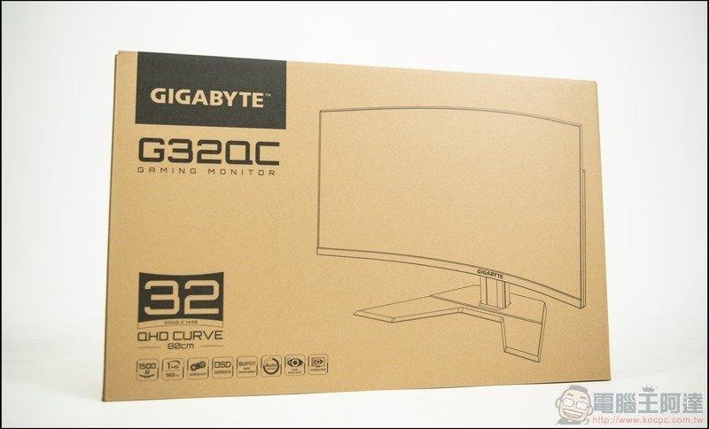 GIGABYTE G32QC 曲面電競螢幕開箱 - 01
