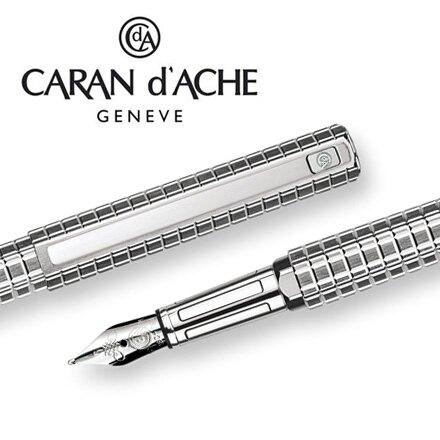CARAN d'ACHE 瑞士卡達 HEXAGONAL 海克森鋼筆(銀鍍銠)-F / 支。廚房,生活雜貨與文具用品人氣店家永昌文具用品有限公司的世界品牌鋼筆系列專櫃、CARAN d'ACHE卡達、●H