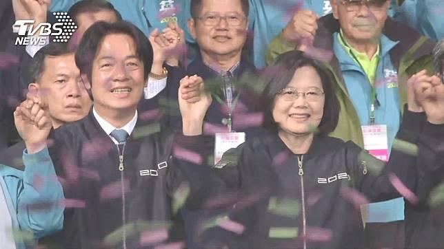 2020年大選日前落幕,總統蔡英文以817萬票高票連任。(圖/TVBS資料照)