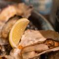 焼き牡蠣盛合わせ - 実際訪問したユーザーが直接撮影して投稿した千駄ケ谷オイスターバーOYSTER BAR WHARFの写真のメニュー情報