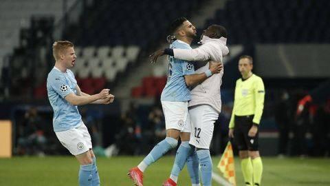 Manchester City meraih kemenangan atas PSG di Parc des Princes.  (REUTERS/BENOIT TESSIER)