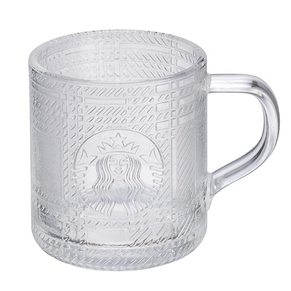 星巴克透明格紋女神玻璃杯 【康是美】