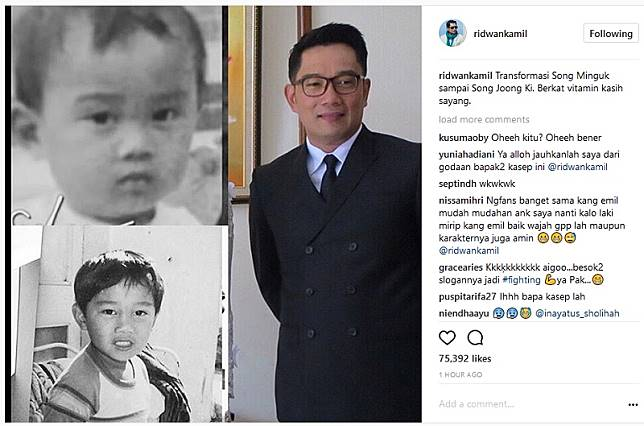 Ridwan Kamil Ternyata Mirip Mingguk Waktu Kecil! Ini Transformasinya