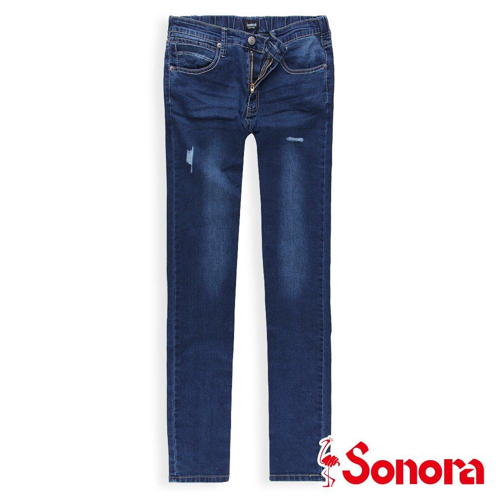 【SONORA 尚諾奈】Soft fit修身丹寧褲 - 女裝(深藍)