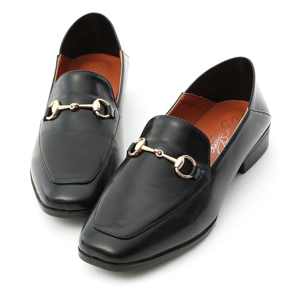 D+AF 紳士嚴選.馬銜釦可後踩平底樂福鞋