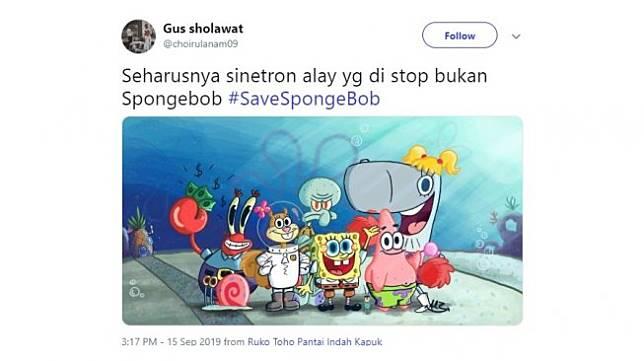 Cuitan Save Spongebob. [Twitter]