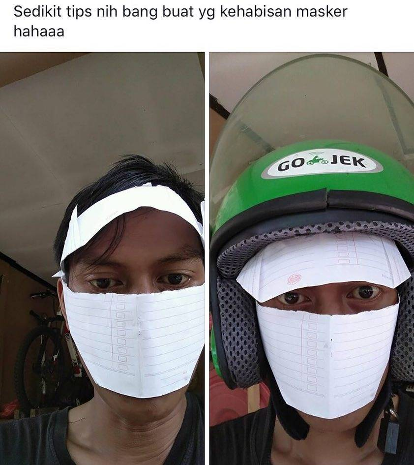Masker Aneh Bin Nyeleneh dari Warga-net yang Bikit Tepok Jidat