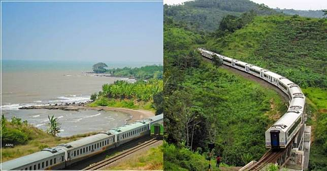 5 Jalur kereta api terindah di Indonesia, ada yang di tepi danau