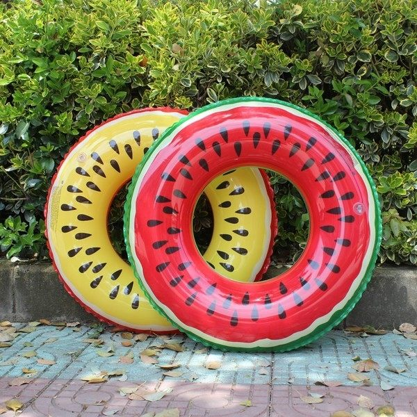 現貨 西瓜圈新款熱銷PVC充氣西瓜遊泳圈 水果泳圈 運動用品 遊泳用品 泳圈