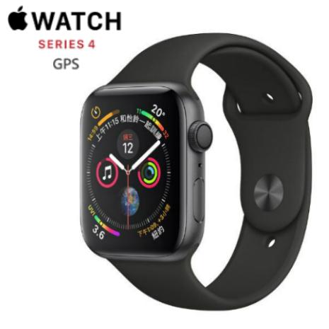【直降$1000】Apple Watch Series 4 44mm GPS 版 太空灰鋁金屬錶殼配黑色運動錶帶 (MU
