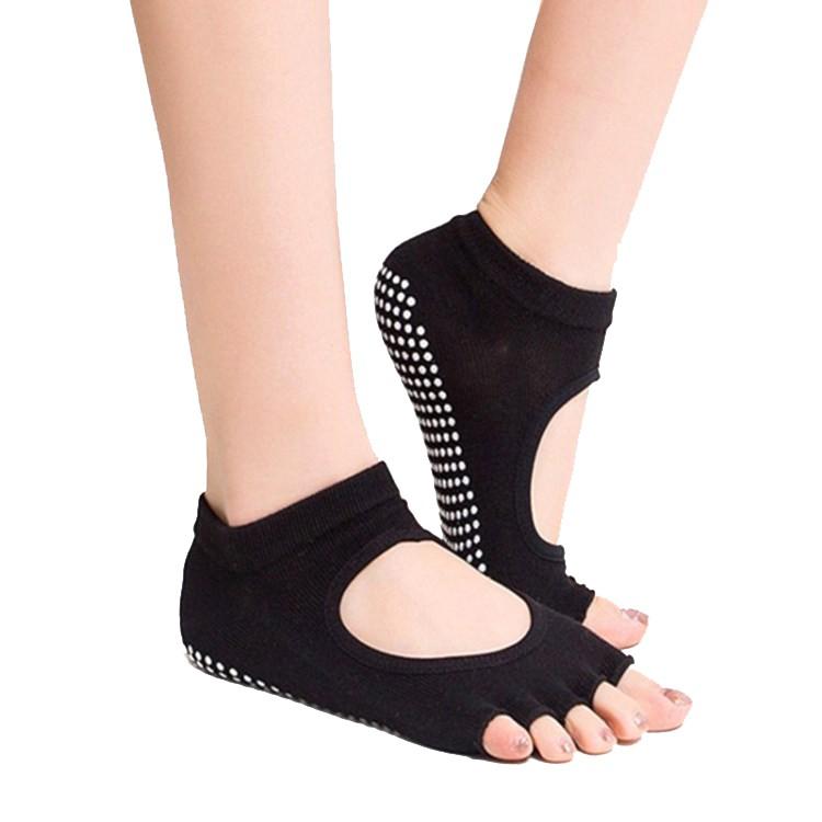 瑜伽襪純棉瑜伽襪五指襪女士防滑露腳背露趾襪瑜伽襪子運動襪 sock-2
