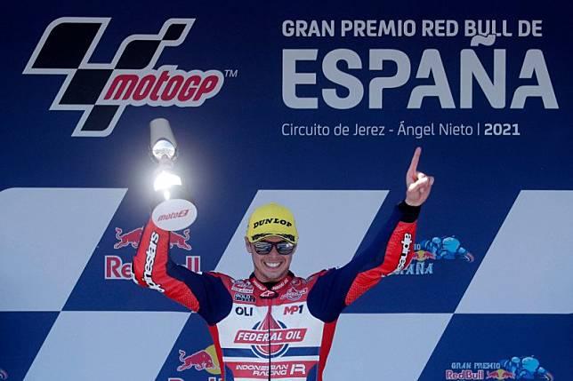 Kejutan di GP Spanyol pijakan Tim Indonesian Racing bersinar tahun ini