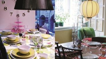 北歐斯德哥爾摩的繽紛居家-餐廳