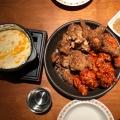 ハーフアンドハーフチキン - 実際訪問したユーザーが直接撮影して投稿した百人町韓国料理ジョンノ 新大久保店の写真のメニュー情報