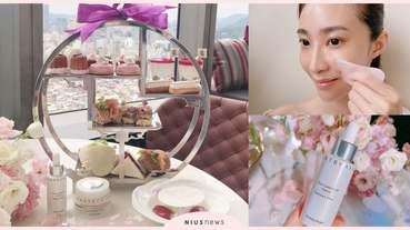 好吃又好拍!香緹卡聯名香格里拉推出夢幻下午茶,預約療程還能享受粉晶舒壓按摩