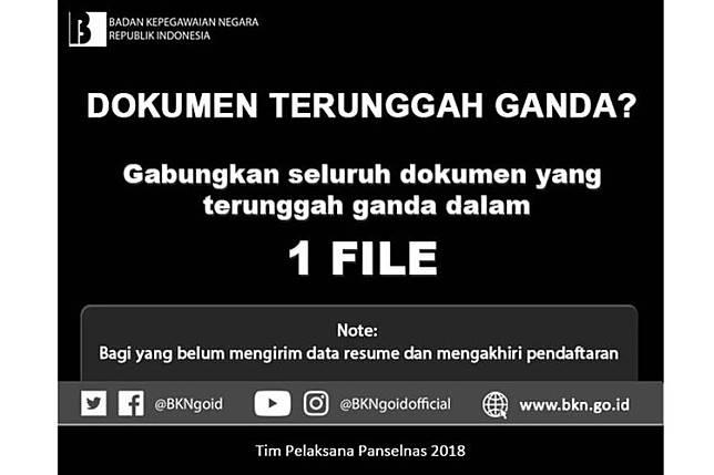Sulit Unggah Dokumen CPNS? Perhatikan Hal Ini jika Alami Dokumen Ganda