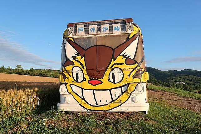 車頭的貓頭尚算畫的很神似。(互聯網)