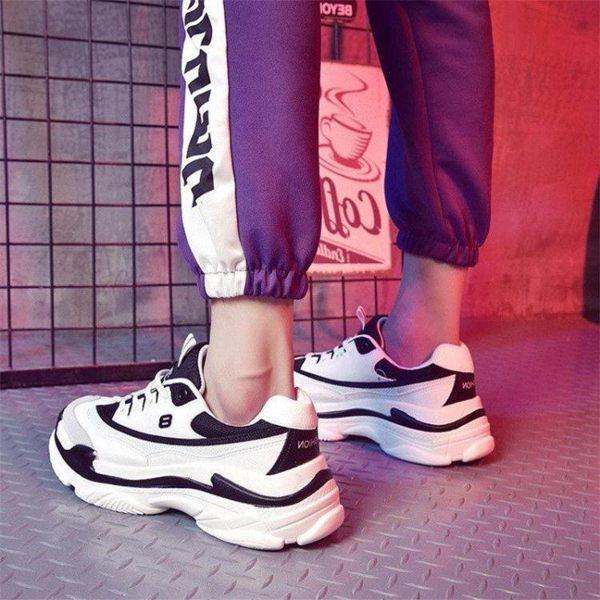 運動鞋ins超火的鞋子男韓版潮流內增高運動鞋白鞋男生球鞋老爹百搭潮鞋 雲朵走走
