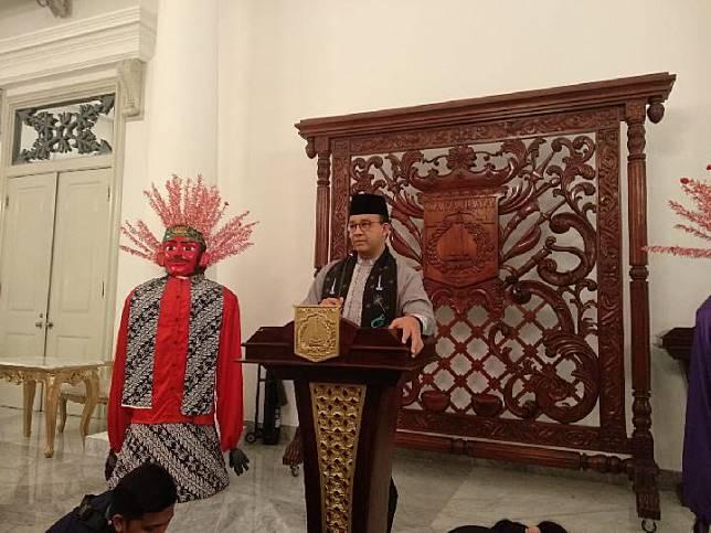 Gubernur DKI Jakarta Anies Baswedan di Balai Kota, Jakarta Pusat, pada Jumat, 19 Juli 2019. TEMPO/Lani Diana