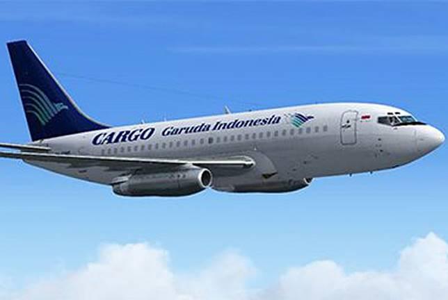 A cargo plane of Garuda Indonesia