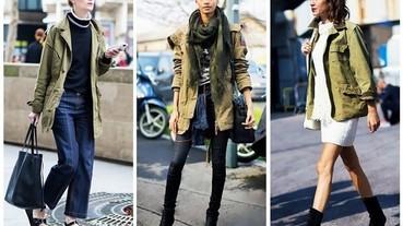 不只是粗獷!軍裝外套的 12 種時尚穿法!