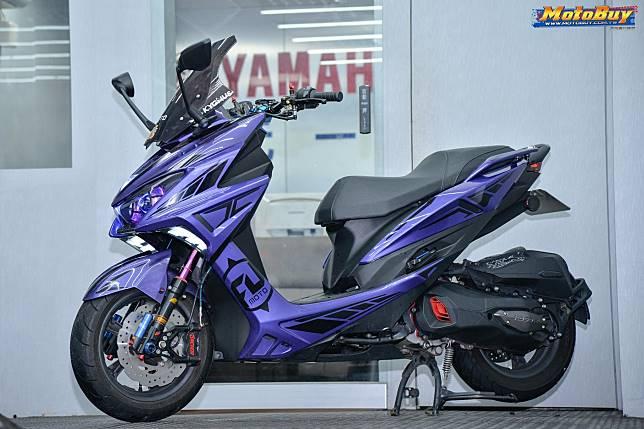 Yamaha Force jadi tambah keren setelah dimodifikasi