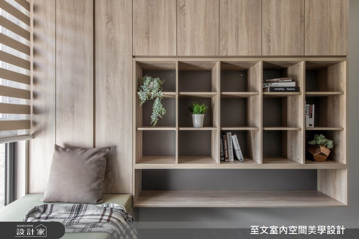 可以運用在小坪數的寢室或者書房,增加收納空間又不會產生壓迫感