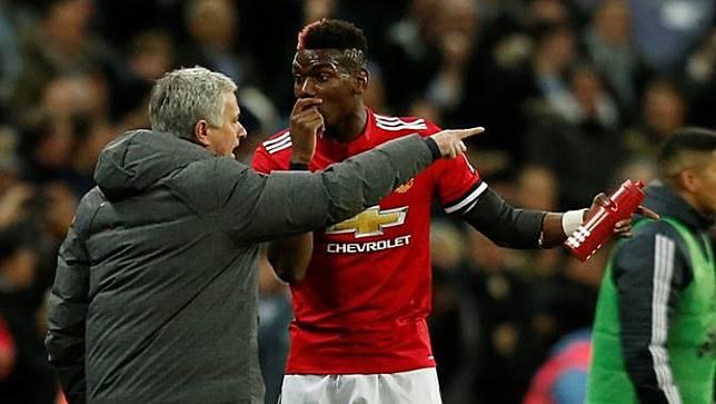 Jose Mourinho dan Paul Pogba