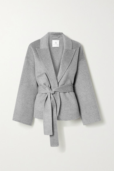 Made from soft wool and cashmere-blend, Anine Bing's 'Luna' jacket is left unlined for a cozy feel.