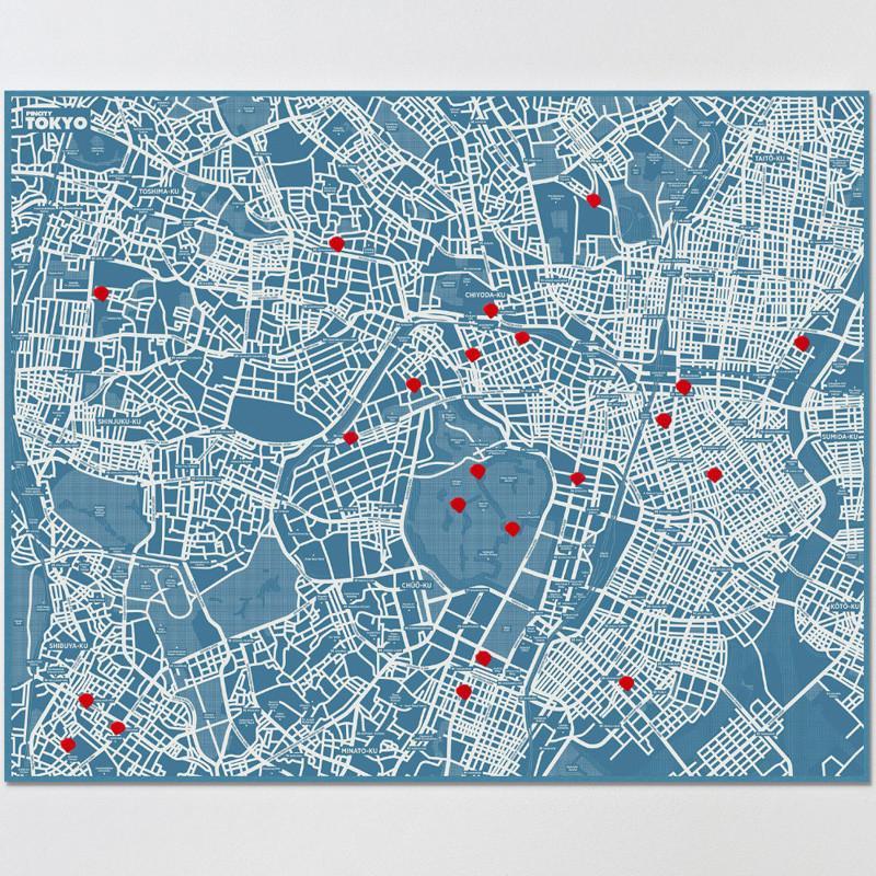 拼城市地圖 - 東京 (藍色)