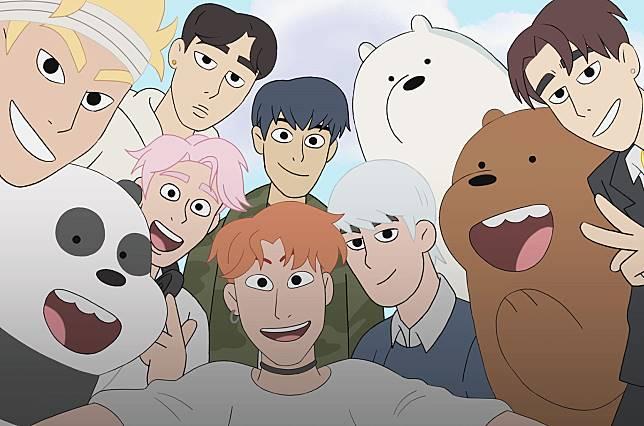 Monsta X Jadi Bintang Tamu Korea Pertama Di Serial We Bare Bears