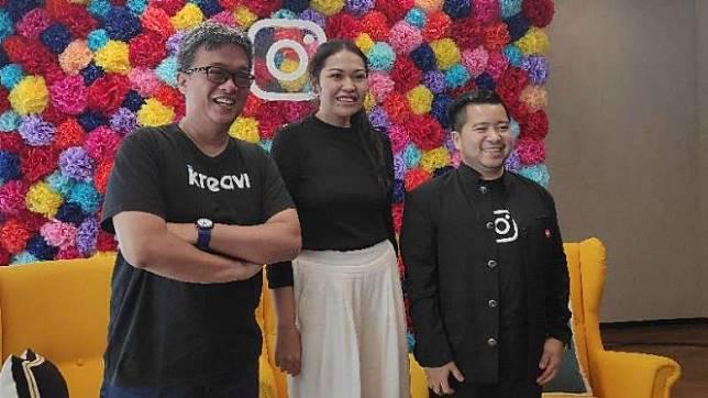 Manager Komunikasi Instagram Asia Pasifik, Putri Silalahi (tengah).