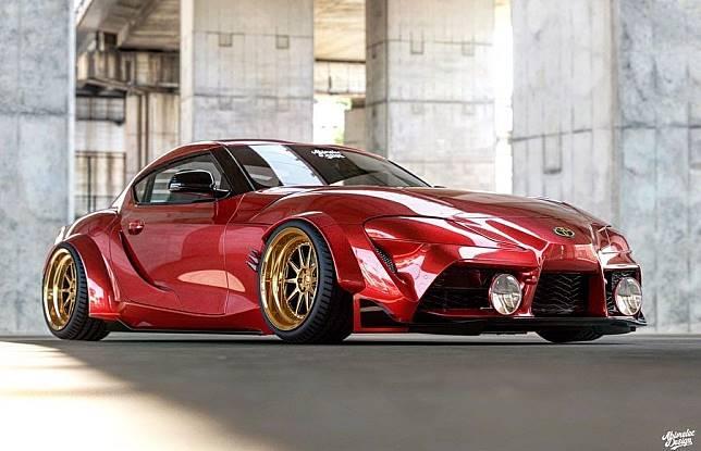 Modifikasi digital Toyota Supra terbaru