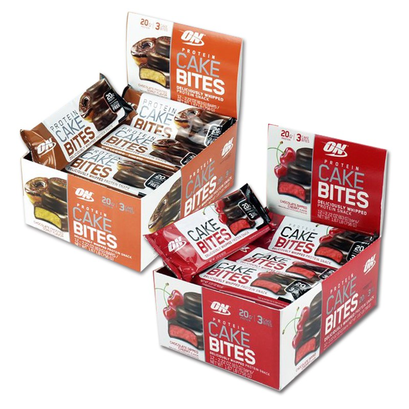 美國ON 蛋糕蛋白棒 巧克力甜甜圈/櫻桃巧克力 盒裝/12入