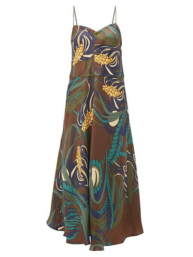 LA PRESTIC OUISTON花卉圖案絲質吊帶裙(互聯網)
