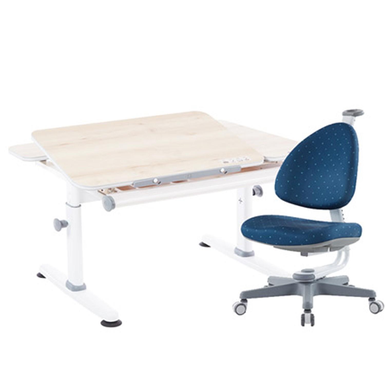 大將作 Kid2Youth - M6 Plus-XS 成長桌椅組(含BABO椅)-贈: 桌墊、收納盒 (隨機)-深海藍