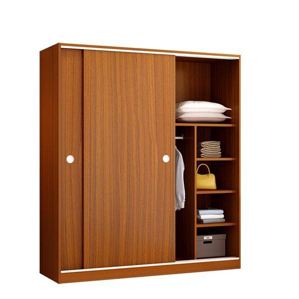 衣櫃推拉門簡約現代經濟型館長推薦組裝板式大衣櫃實木質免運臥室兒童衣櫥