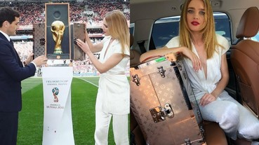 〔2018世足賽〕LV 三度為世界盃打造「大力神盃」硬箱!這位神秘「俄國超模」娜塔莉如何雀屏中選,成為賽前儀式護送獎盃進場的女模!