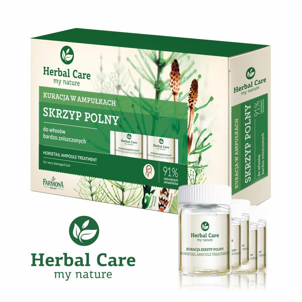 波蘭Herbal Care 馬尾草髮絲極亮順強效安瓶護髮素(5mlx5瓶) /盒 蝦皮24h 現貨