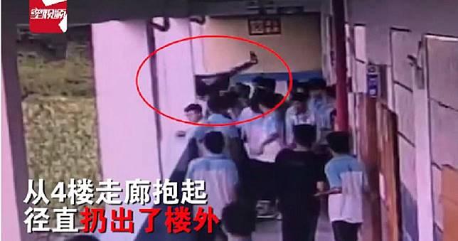 國中生公主抱同學拋下4層樓外 四肢變形學生全嚇呆