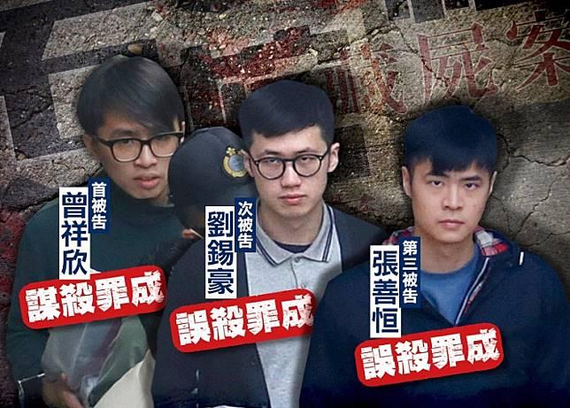 石棺藏屍案的3名被告。