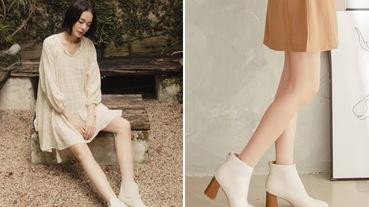 秋冬鞋櫃必備款!質感女孩白色靴款推薦