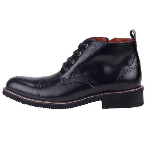 男款 歐美小牛皮牛津雕花 MIT手工皮靴 短靴 牛津鞋 黑色 59鞋廊