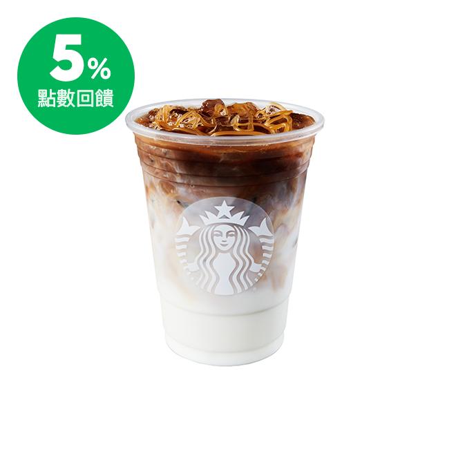 融合優質鮮奶及香草風味糖漿後,倒入濃縮咖啡並在牛奶上覆以香甜焦糖醬,呈現多層次風味,是星巴克深受歡迎的飲料。 商品內容: 大杯(G)、冰飲、16oz。 使用說明: 1.本商品電子兌換憑證係由星巴克提供