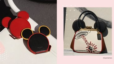 米奇耳朵零錢包太可愛!COACH×迪士尼×keith三方聯名,超Q米奇提包欠結帳